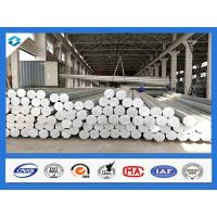 Buy cheap 35FT 3mm Thick Q345 Galvanized Metal Pole Electric Steel Poles 500KGF Load product