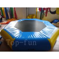Quality Entertainment Backyard Inflatable Water Park Trampoline for Beach / Resorts , 3m for sale
