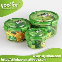 Buy cheap 3PCS Airtight Customized Plastic Food Containers with Lids Manufacture product