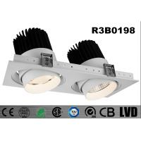 Buy cheap Interior 2 * 30W Square LED Recessed Downlight Adjustable SHRAP Chip Dimmable product