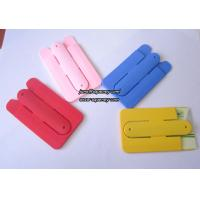Buy cheap Silicon slap band 3M stickers silicone phone stand card holders for any mobile phone product