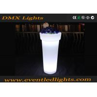 China Rechargeable  CE ROH passed Plastic Outdoor Garden Decoration Vase Led Lighted Home Flower Pots on sale