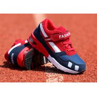 China Suede Leather Kids Sports Shoes , Little Boys Running Shoes With Magic Strap on sale