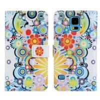 Buy cheap Floral Wallet Leather Case For Samsung Galaxy S5 SV S V G9000 G9006V G9008V with Stand product
