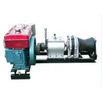 China Cable Pulling Winches 5 Ton Variable Speed Diesel Power Winch For Tower Erection wholesale