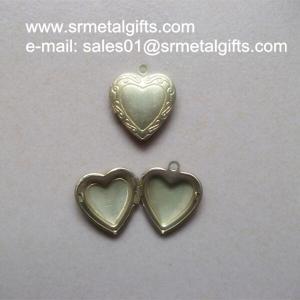 China Copper Album Locket Jewelry Gifts, Brass Photo Box Locket pendants necklace wholesale