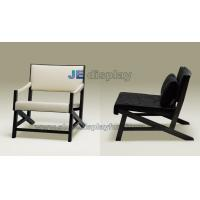 Buy cheap Italy leather leisure sofa made by  black ash solid wood structure upholstery furniture product