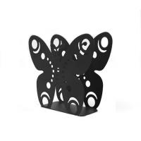 China Eco Friendly Black Metal Napkin Holder Creative Design For Coffee Shops / Office on sale
