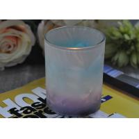 Buy cheap Unique Design Glass Candle Holders Feather Painted Candle Glass Jars product