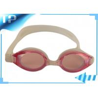Buy cheap Pink Swimming Mask Goggles With Silicone Headstrap , UV Swim Goggle Glasses product