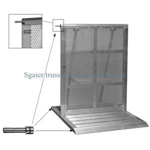 Buy cheap Road safty barricade smart portable folding road pedestrian  steel barrier fence product
