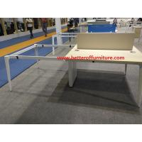 Buy cheap Modern design 4 person Office Workstation Partition steel frame wooden top desk product