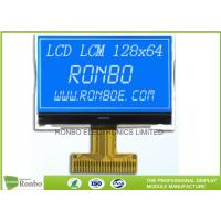 Quality STN Blue Negative LCD Display , Monochrome COG Customized 128x64 Lcd Module for sale