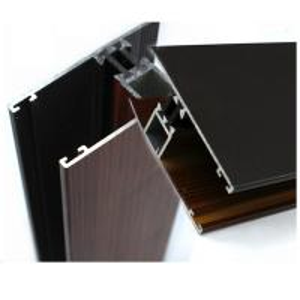 Buy cheap Профили промышленного деревянного финиша алюминиевые для поликарбоната покрывают ОЭМ/ОДМ product