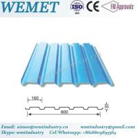 Buy cheap Corrugated steel sheet for steel structure building facade WMT-30-160-800 product