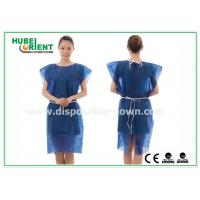 Buy cheap PP Nonwoven Disposable Isolation Gowns , disposable patient gowns without Sleeves product