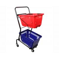 Buy cheap Powder Coated Two Tier Shopping Cart / Double Basket Shopping Cart 50-240L Volume product