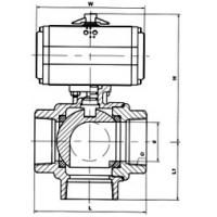 Buy cheap Interior whorl ball valve of the pneumatic three direct links product