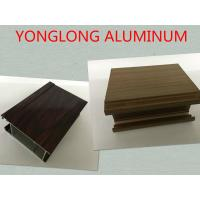 Buy cheap Multifunctional Extruded Wood Grain Aluminum Profile For Kitchen Square Shape product