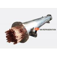 Buy cheap Marine Refrigeration Shell and Tube Heat Exchanger , Water Cooled Evaporator product