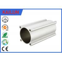 Quality Industrial High Strength Aluminum Tubing , 15 Micron Silver Anodized Aluminium Cylinder Tube for sale