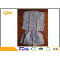 Quality Non Woven Disposable SPA Robes Clothes , PP SMS Hotel Sauna Suit Gown for sale