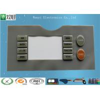 Buy cheap 45 Degree Silicone Rubber Keypad , Tactile Keypad Epoxy Treatment Good Touch Feeling product