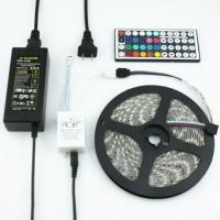Buy cheap Full kits SMD 5050 RGB LED Strip Light waterproof + 64keys remote controller + power supply with EU/AU/UK/US/SW plug product