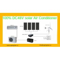 Buy cheap 24000btu Off Grid 48V  DC Inverter Compressor 100% Solar Air Conditioning from wholesalers