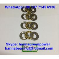 Buy cheap F2.5-6 GCr15 Material Steel Cage Thrust Ball Bearing without Groove 2.5x6x3mm product