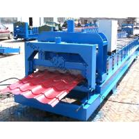 Buy cheap Color Steel Glazed Tile Roll Forming Machine with PLC Computer Control to Europe product
