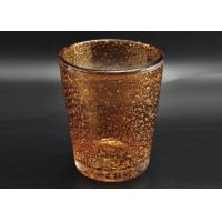 Buy cheap 316ml Hand Made Color Sprayed Glass Votive Candle Holder with Bubble Effect product