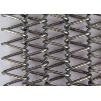 Buy cheap Stainless Steel Flat Wire Mesh Spiral Woven Decorative Mesh For Architecture product