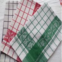Buy cheap Yarn Dyed Quick - Dry Kitchen Tea Towels / Cotton Dish Towels For Airplane Use product