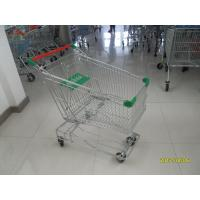 Buy cheap Asian Type125L Wire Shopping Trolley With 4 inch flat TPE casters product