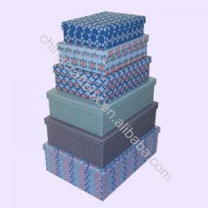 China Fabric Covered Storage Box/ Fabric Storage Gift Box Set on sale