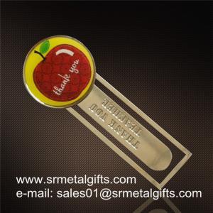 China Clear epoxy coated steel bookmarks, print epoxy coating metal bookmarks factory wholesale