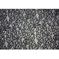 China Fashion design Quality S404 Textile Nylon Spandex Lace Dress Guipure Lace Fabric on sale