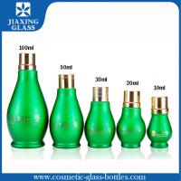 Buy cheap Round Shaped Glass Essential Oil Bottles With Dropper Green 100Ml product