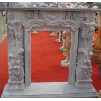 Buy cheap Large Decoration Flower Stone Fireplace Outdoor product