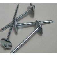Buy cheap Umbrella Head Metal Working Tools , Q195 Galvanized Roofing Nails Twisted Shank product