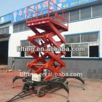 Buy cheap Accumulator truck - mounted scissor lift platform 4m 6m 8m working height for 300kg 500kg product