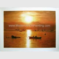 Buy cheap Realistic Oil Portrait from Photograph, Sunrise Landscape Canvas Art Painting from wholesalers