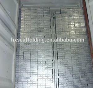 Buy cheap Planches galvanisées par 420*45*1800mm en métal d'échafaudage d'Adto avec des crochets product