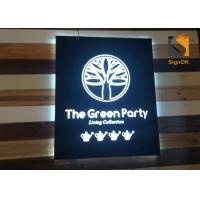 Buy cheap Wall Mounted  Indoor Store Logo Metal Signbox with Backlit& Frontlit Lighting product