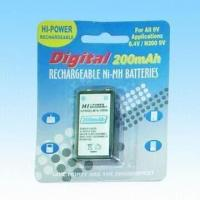 China 9V Sized NiMH Battery with 200mAh Nominal Capacity on sale