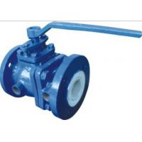 Fluorine lined thermal insulation ball valve