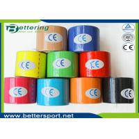 China Breathable physio therapy kinesiology tape sports muscle tape strapping tape with different colours on sale