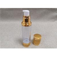Buy cheap Non Spill Acrylic Lotion Bottle With A Diaphragm Inside Aluminum Cover product
