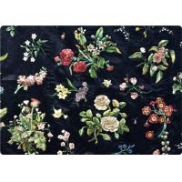 Buy cheap Black Embroidered Curtain / Bags / Bedding Fabric Vintage Upholstery Fabric product